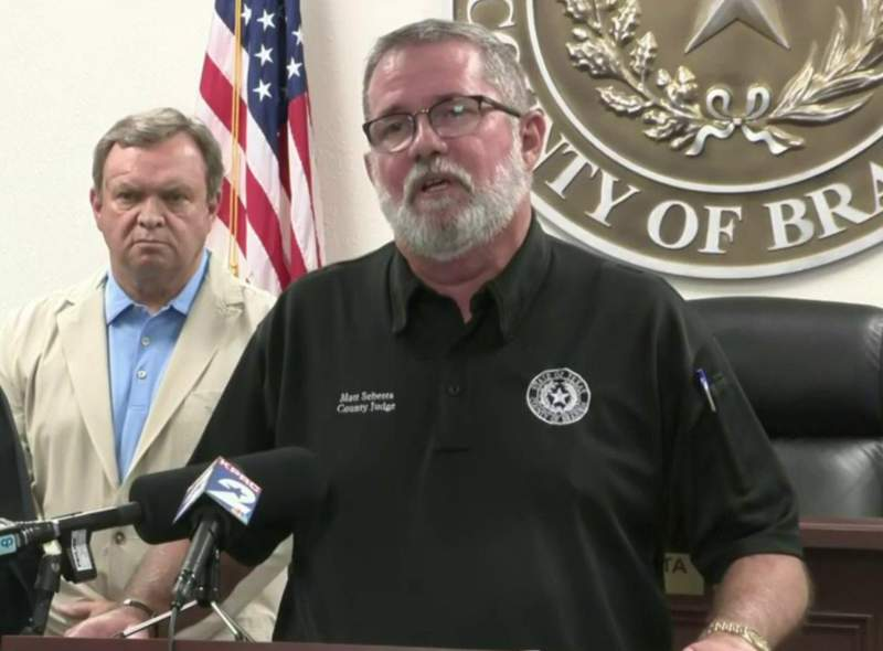 Brazoria County Judge Matt Sebesta issued a voluntary evacuation Saturday for low-lying coastal areas outside the protection levee.