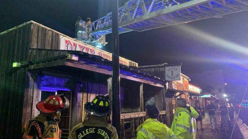 Roof of historic The Dixie Chicken bar in College Station collapses after heavy wind, hail damage Wednesday