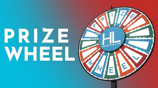 Houston Life Prize Wheel logo - sized for mobile