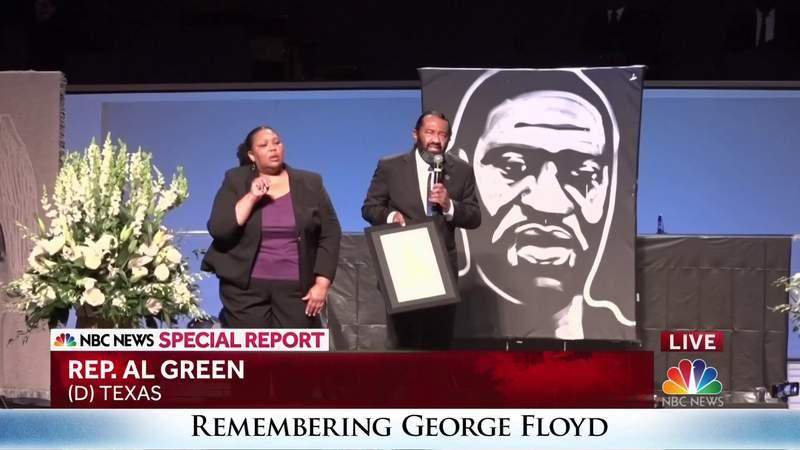 Rep. Al Green speaks at George Floyd's funeral