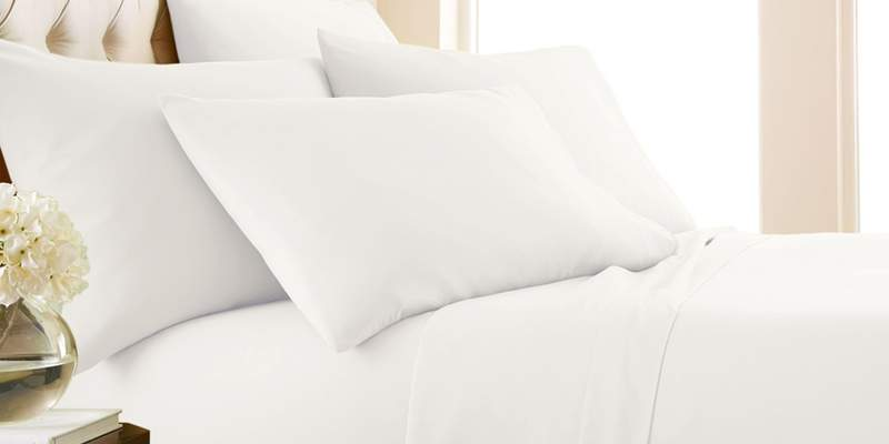These luxury sheets are made of an eco-friendly bamboo fiber blend and they are wrinkle-free!