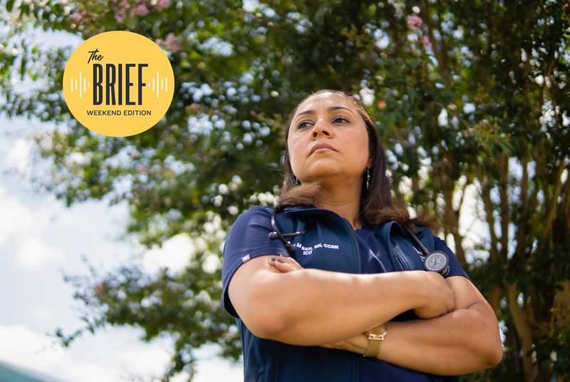 Sheyla Moraes, an ICU nurse in Central Texas, in South Austin on Aug. 11, 2021.