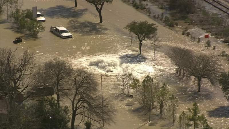 Several roads and a freeway in east Houston are experiencing massive flooding after water main break on Thursday afternoon, according to the city of Houston.