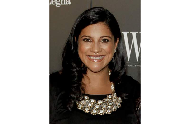 FILE - Reshma Saujani,  founder of the non-profit organization Girls Who Code, appears at the WSJ. Magazine 2014 Innovator Awards in New York on Nov. 5, 2014. Saujanis Pay Up will be published in March 2022 by One Signal Publisher/Atria Books.  (Photo by Andy Kropa/Invision/AP, File)