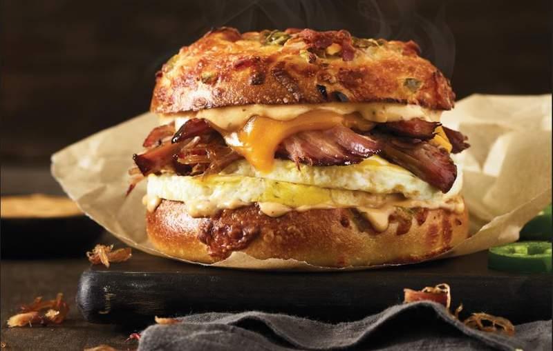 Texas Brisket Egg Sandwich