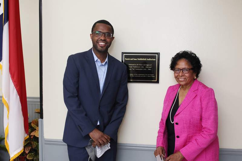 Prairie View A&M University President Dr. Ruth Simmons presented Fifth Ward's Julia C. Hester House with a donation in the amount of $100,000 Saturday. She said the house contributed to her upbringing.