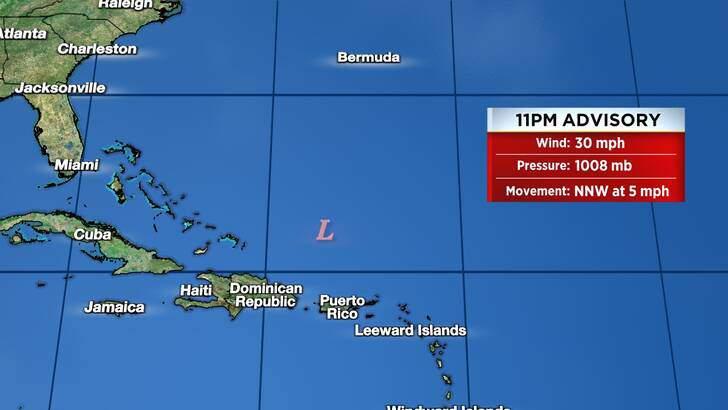 Tropics Forecast Cone at 4:07 Thursday Night, September 23rd