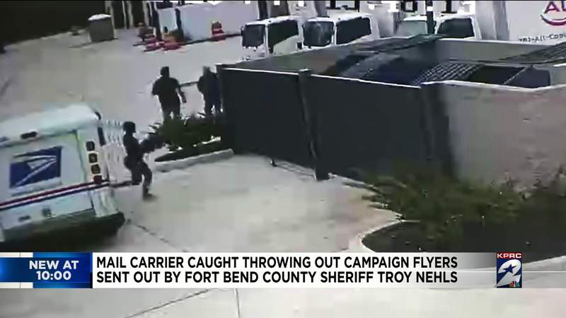 Mail carrier caught throwing out campaign fliers sent out by Fort Bend County Sheriff Troy Nehls