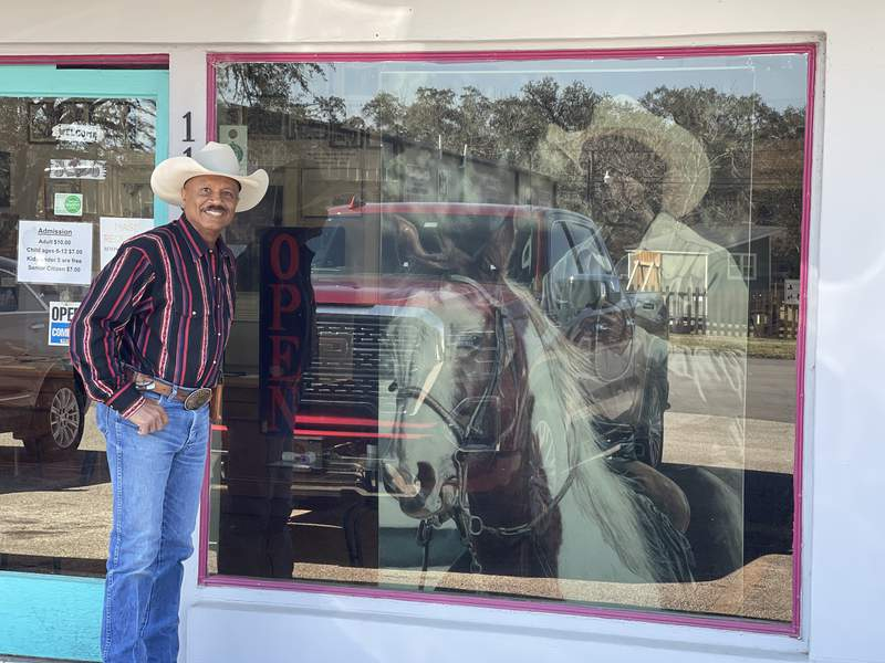 Larry Callies founded and still runs the Black Cowboy Museum in Rosenberg.