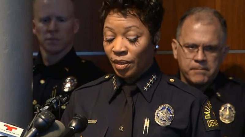 Dallas Police Chief Renee Hall. (WDIV)