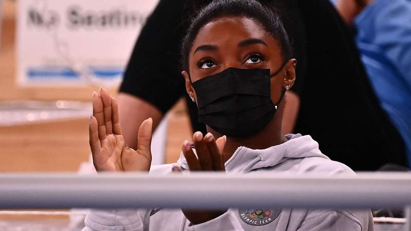 Simone Biles is out of her first two event finals in Tokyo.