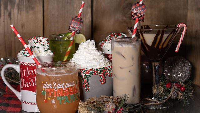 Santa's Tavern pop-up Christmas bar is serving up giant, boozy holiday drinks in Houston. (Image from Santa's Tavern Facebook Page)