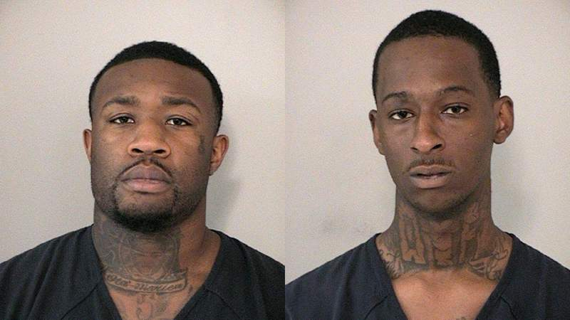 (from left to right) Hakeem Thomas and Tyre Hartley are both facing criminal charges, including robbery, tampering with evidence, and evading in a vehicle.