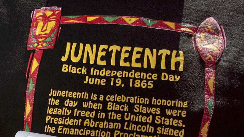 The holiday is celebrated in June because slaves in Texas and several other states did not learn of their freedom until June of 1865.