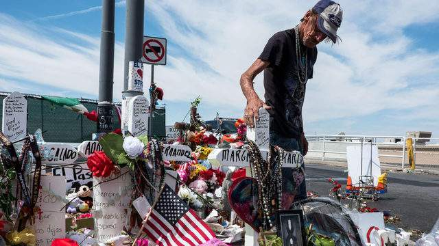 Antonio Basco has visited the makeshift memorial behind the El Paso Walmart store every day since he learned his wife Margie Reckard was killed.