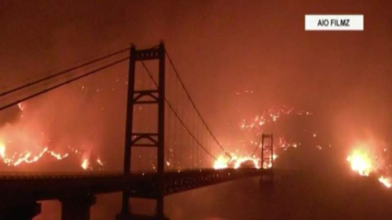 Wind and heat wave fueling western wildfires