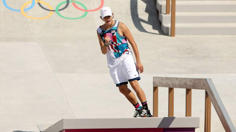 American Jagger Easton took third place in the men's street skateboarding final.