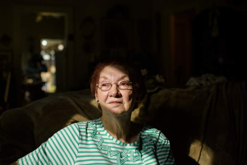 Sue Foery poses for a portrait at her home in Groves on June 10, 2021.