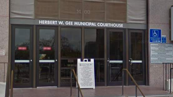 Street view of the Houston Municipal Courthouse located at 1400 Lubbock St.