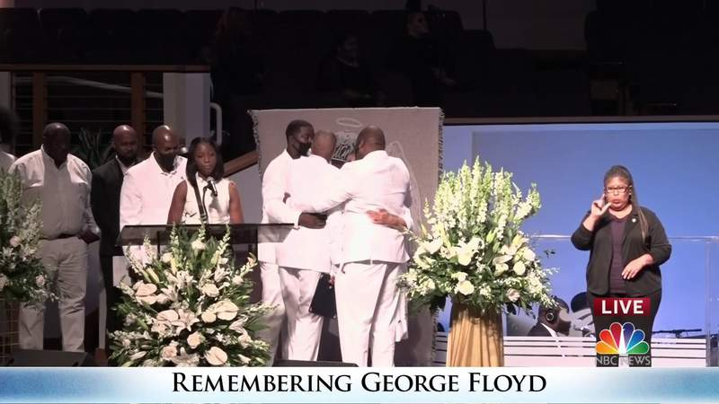 Family and friends pay tribute to George Floyd