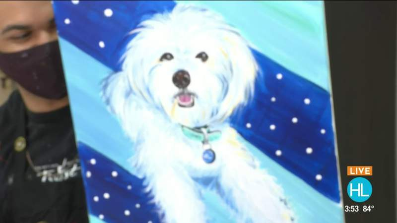 Create an adorable PAW-trait and 'Paint Your Pet' at Painting With A Twist   HOUSTON LIFE   KPRC 2