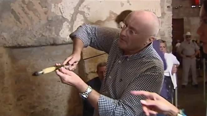 Phil Collins talks Alamo artifact donation.