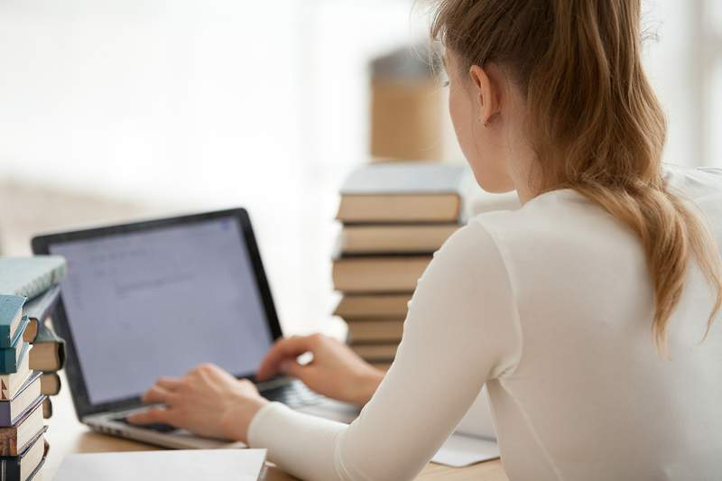 Online Learning stock image