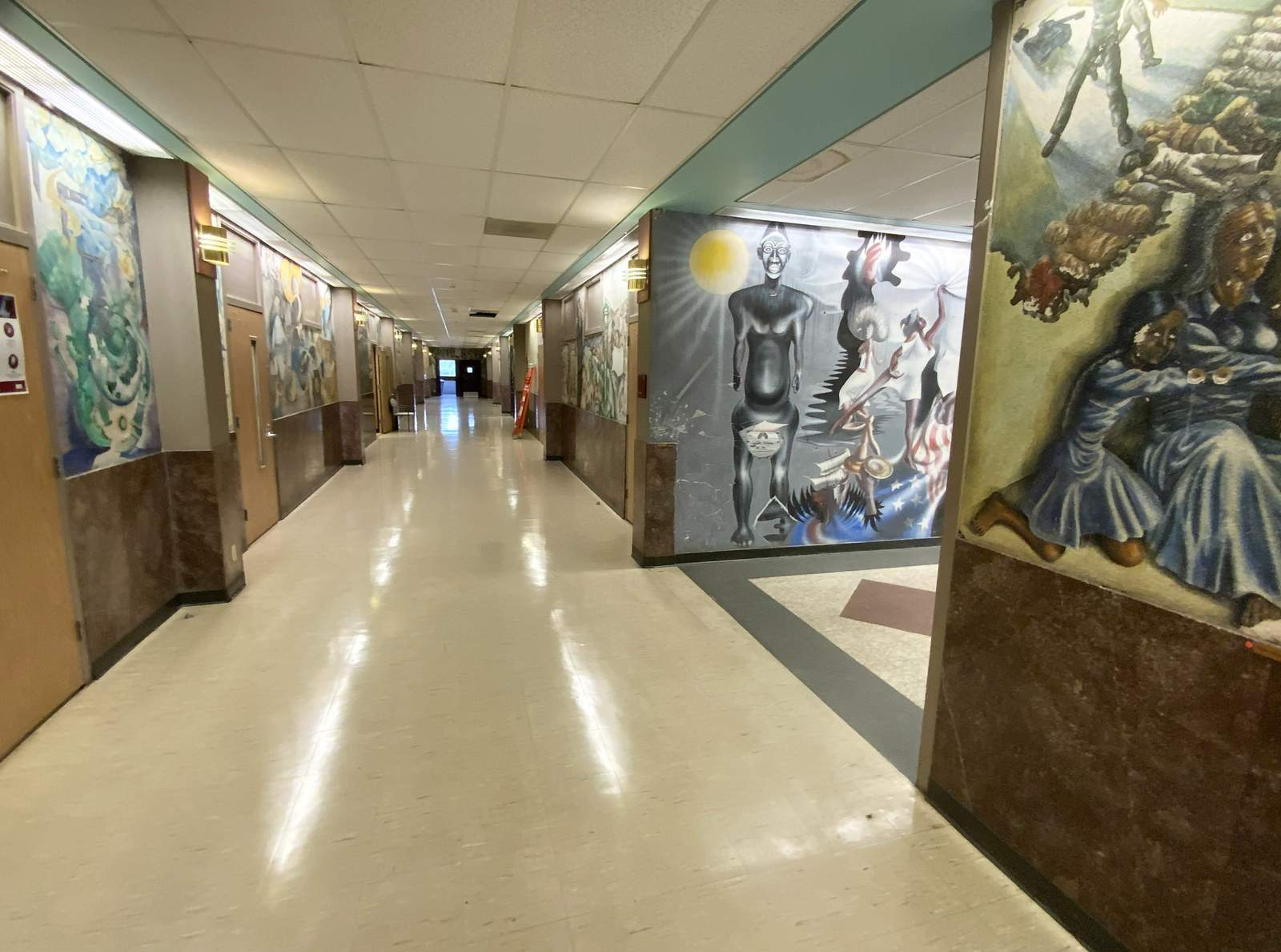 Murals fill the walls of Hannah Hall on the TSU campus