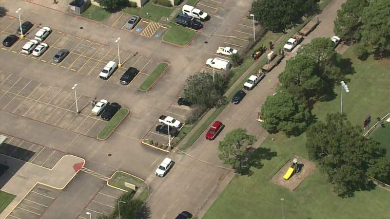 Evacuations are underway due to a gas line break in the Clear Lake area, according to a tweet by the Harris County Precinct 8 Constable's Office.