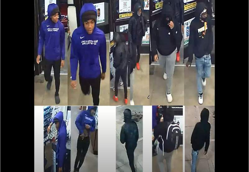 Houston police are looking for four suspects involved in an aggravated robbery in east Houston.