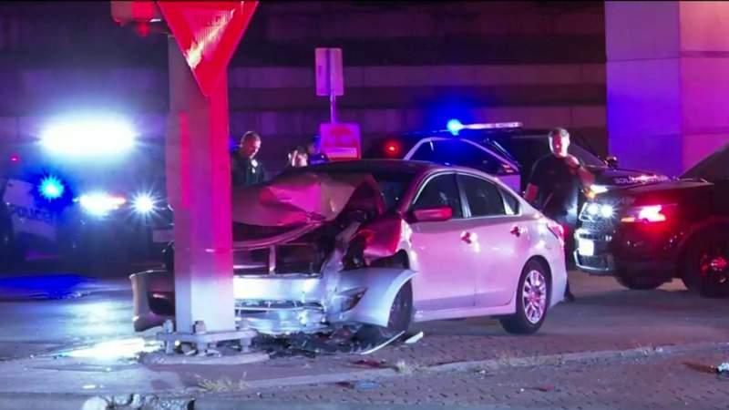 HPD: Woman killed in north Houston crash, husband taken into custody on suspicion of DWI
