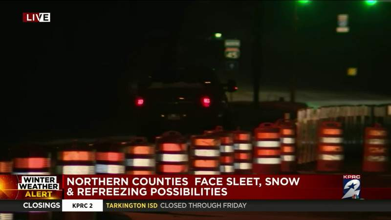 Northern counties face sleet, snow and refreezing possibilities