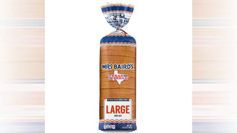 Mrs Baird's large white bread.