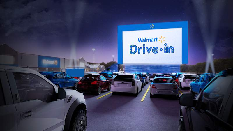 Walmart planning to turn some parking lots into drive-in theaters