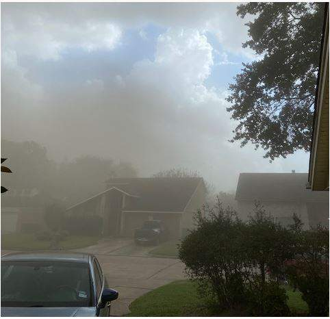 A dusty storm Friday October 23, 2020 moves across our area. Photo from Gwendolyn Berry