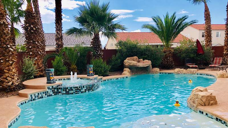 An oasis-like pool for rent in Las Vegas