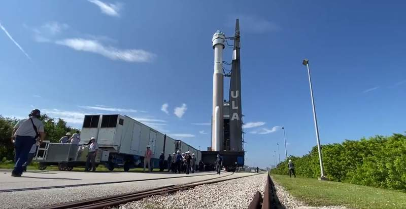 Boeing image from video of the Starliner craft
