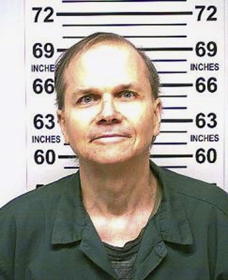 FILE  This Jan. 31, 2018 photo, provided by the New York State Department of Corrections, shows Mark David Chapman, the man who killed John Lennon. Chapman, 65, was denied parole for an 11th time, New York state corrections officials said Wednesday, Aug. 26, 2020. (New York State Department of Corrections via AP, File)