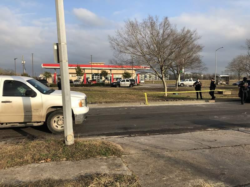 A crime scene photo released by Houston police on social media on Jan. 22, 2021.