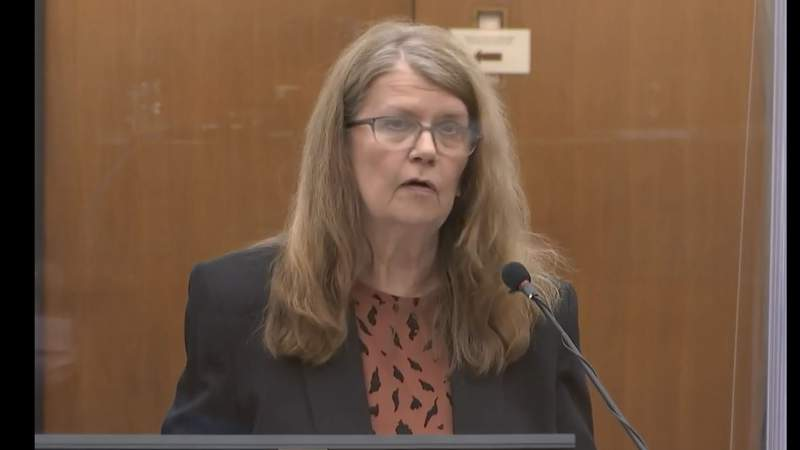 Derek Chauvin's mother, Carolyn Pawlenty, address the court during sentencing hearing for murder of George Floyd