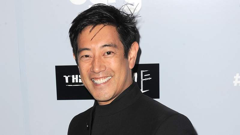"""LOS ANGELES, CA - JULY 22:  TV personality Grant Imahara arrives for the Premiere Of The Asylum's """"Sharknado 3: Oh Hell No!"""" at iPic Theaters on July 22, 2015 in Los Angeles, California.  (Photo by Albert L. Ortega/Getty Images)"""