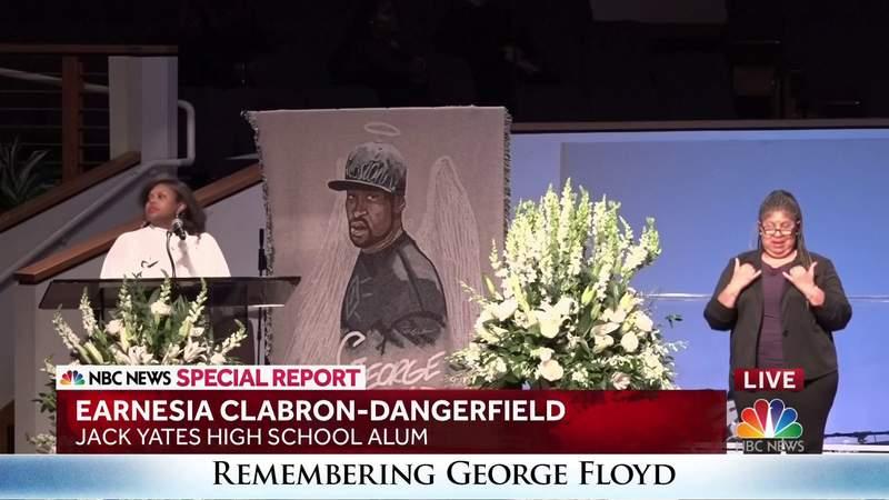 Jack Yates alum speaks at George Floyd's funeral