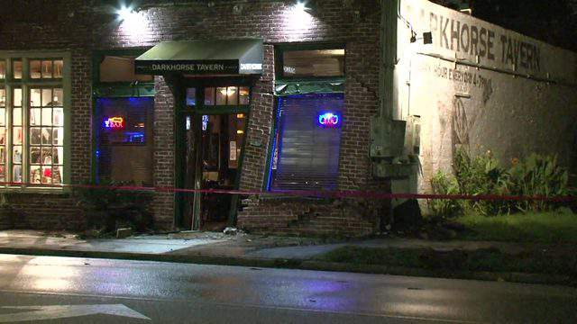 A woman was injured after police say she drove into a bar on Nov. 12, 2018.