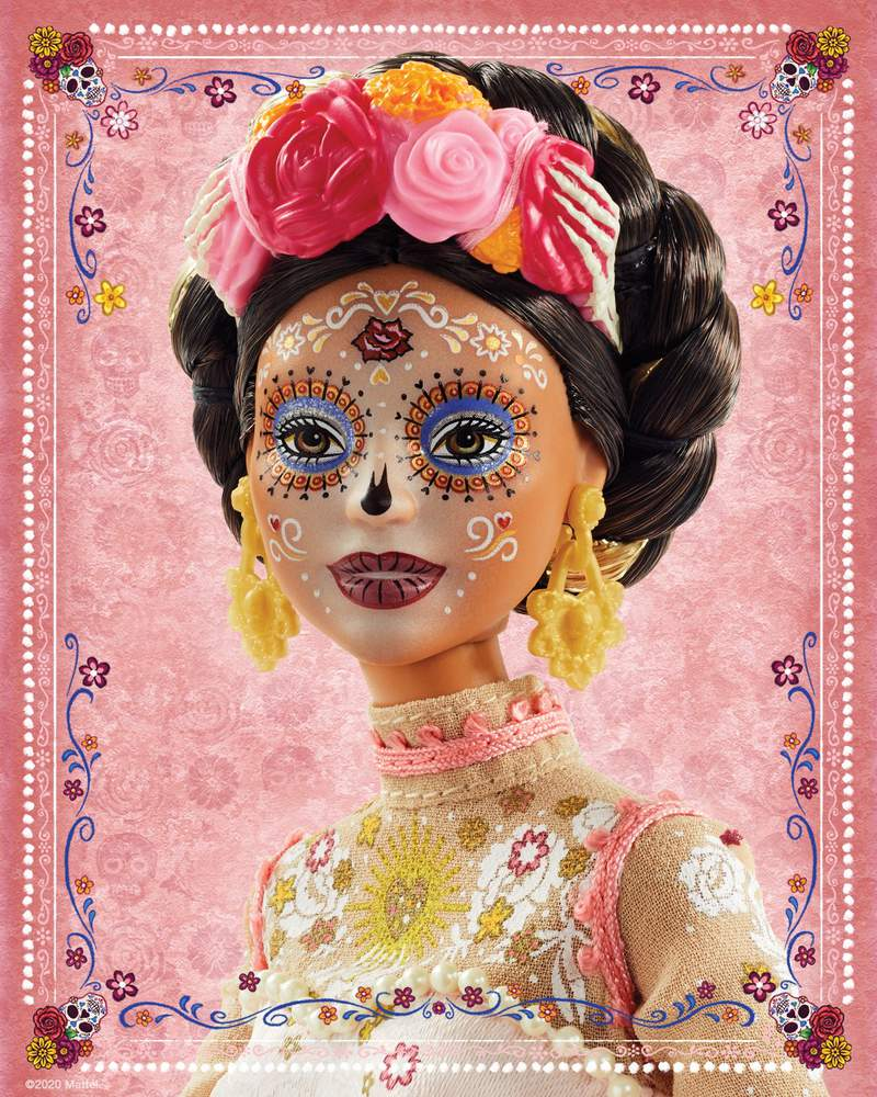 Barbie's 'Dia de Los Muertos' doll designed by Javier Meabe.