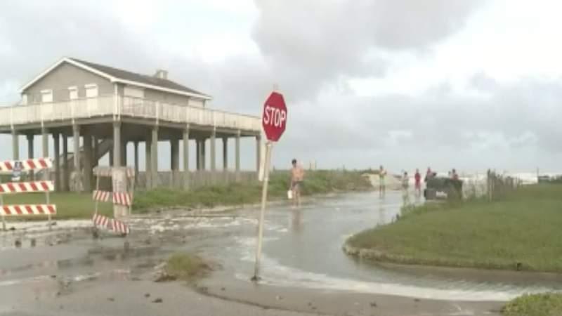 Tropical Storm Hannah impacting local beaches