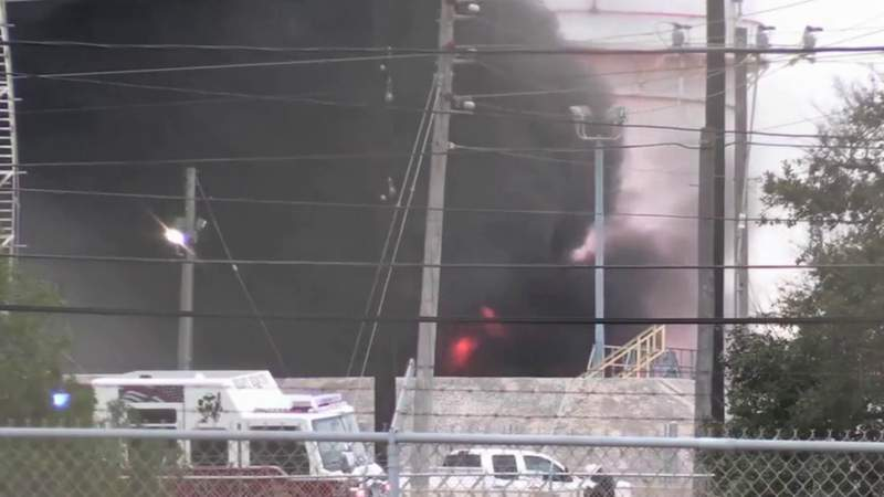 7 injured in oil storage tank explosion at Magellan plant in Corpus Christi, firefighters say