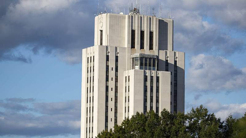 Walter Reed National Military Medical Center is seen on October 2, 2020 in Bethesda, Maryland.
