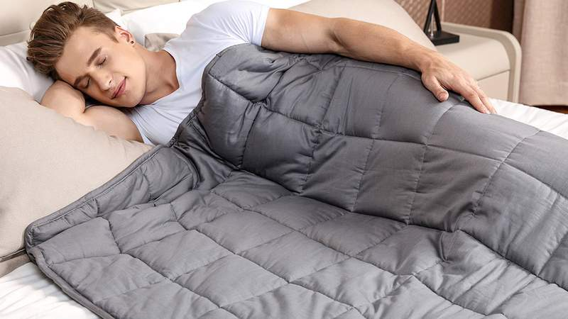 Fall asleep faster with this weighted blanket that's now on sale