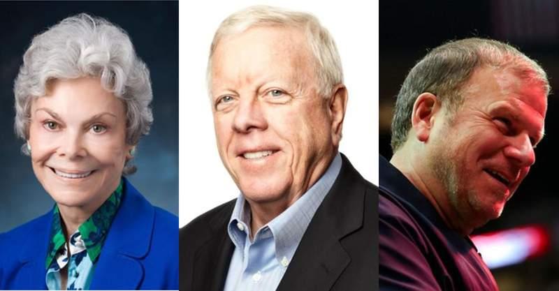 Janice McNair, Richard Kinder, and Tilman Fertitta