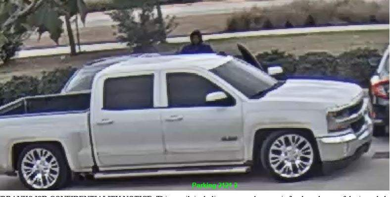 Photos show a vehicle that was involved in several tire and rim thefts in Katy and Cypress area, police said.